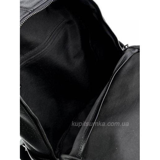 Функциональный кожаный рюкзак из натуральной кожи Чёрный