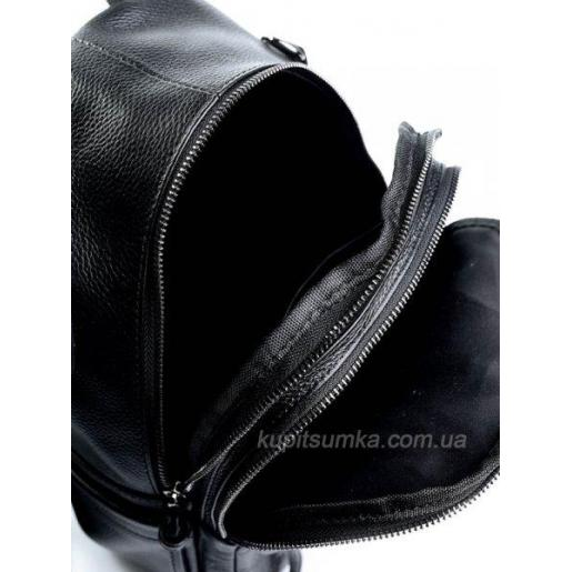 Женский кожаный рюкзак черный 80D976