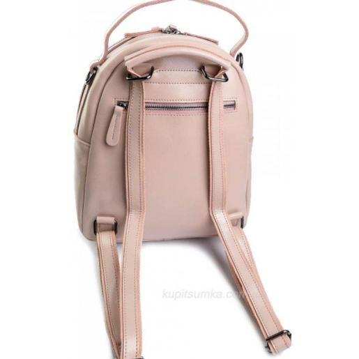 Женский рюкзак из натуральной кожи 89D50 розовый