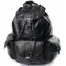 Женский кожаный рюкзак черный 90D11-234