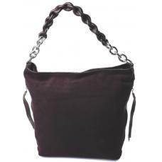 Коричневая женская сумка замшевая 89D78-29