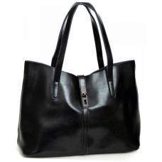 Женская кожаная сумка шоппер DO83/27 Черный