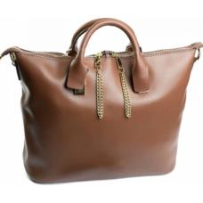 Женская кожаная сумка шопер коричневый DO-20337-29