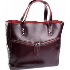 Женская кожаная сумка DO87-13-8 Бордовый