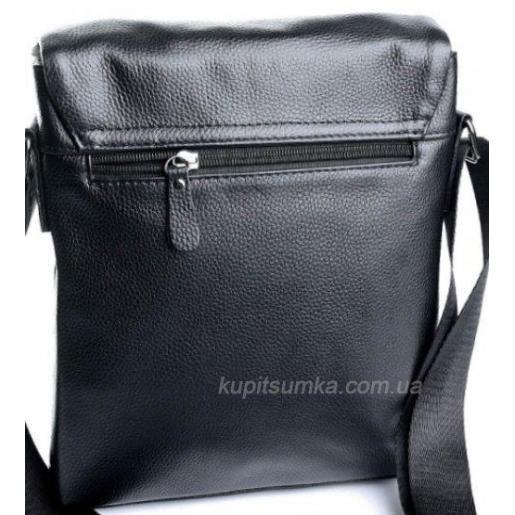Мягкая кожаная сумка для мужчин черного цвета