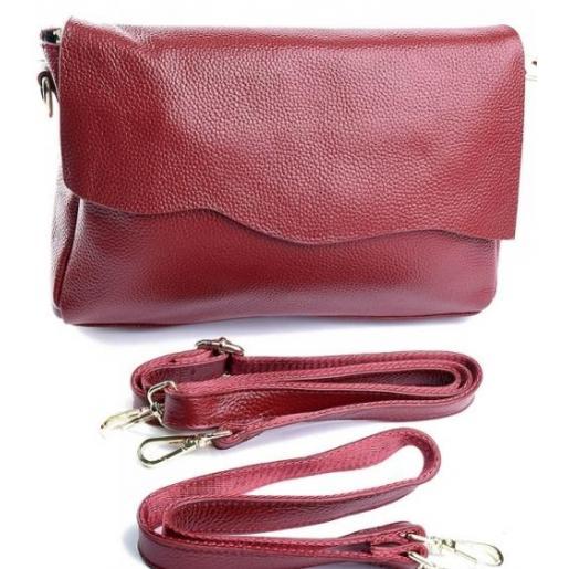 Женская кожаная сумка 50D2-1 Красный