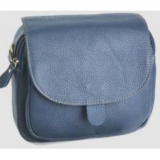 Клатч женский кожаный синего цвета с передним карманом