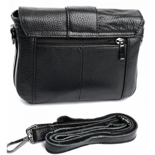 Женская кожаная сумка на плечо K11D02-1 Черный