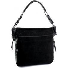 Женская сумка замшевая на плечо черный DO8779-1
