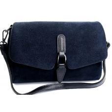 Женская  сумка замшевая синяя DO793-90