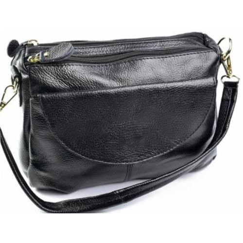 Женская сумка-клатч из натуральной кожи 11D95-4 Черный