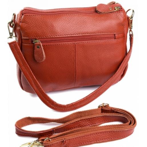 Женский кожаный клатч оранжевый K11D95-9