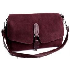 Женская сумка из бордовой замши DO793/90-2