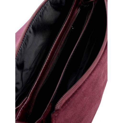 Женская сумка из бордовой замши DO793-90-2