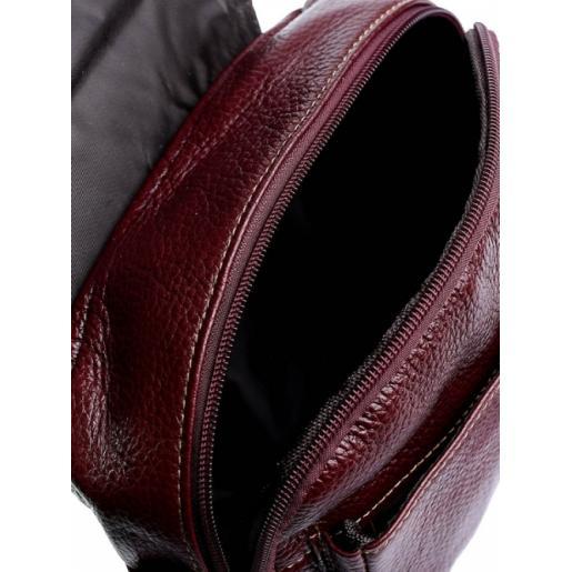 Женский кожаный клатч 03D20-1 Бордовый