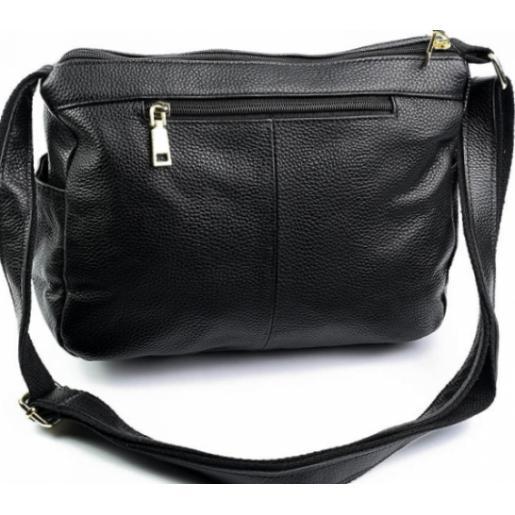 Женский кожаный клатч черный KD706-1