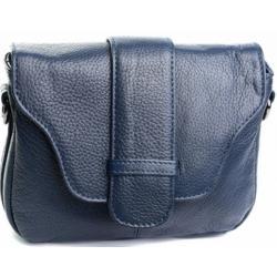 Кожаная сумка на плечо K11D02-6 Синий