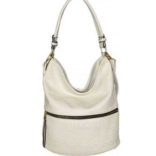Женская сумка через плечо из кожзаменителя белая 93D421-9