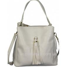 Женская сумка через плечо белая 85D461