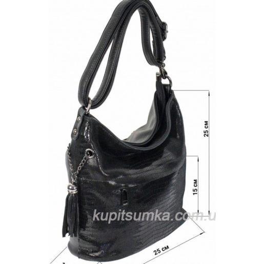 Женская сумка из кожзаменителя и замша 12D38D-5 Чёрный