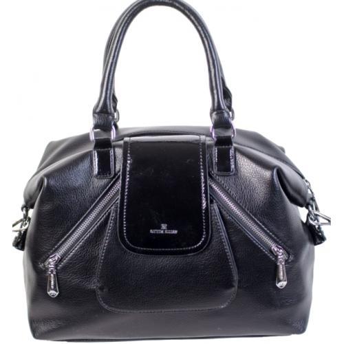 Женская черная сумка из кожзаменителя 879D82-1