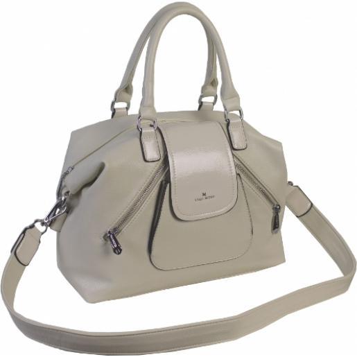 Женская сумка из кожзаменителя бежевая 879D82-2