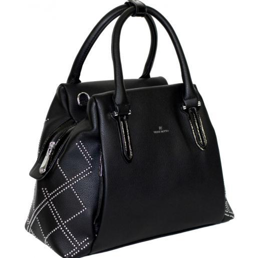 Женская сумка из кожзама черная 189D-2