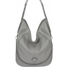 Стильная женская сумка из кожзама серого цвета
