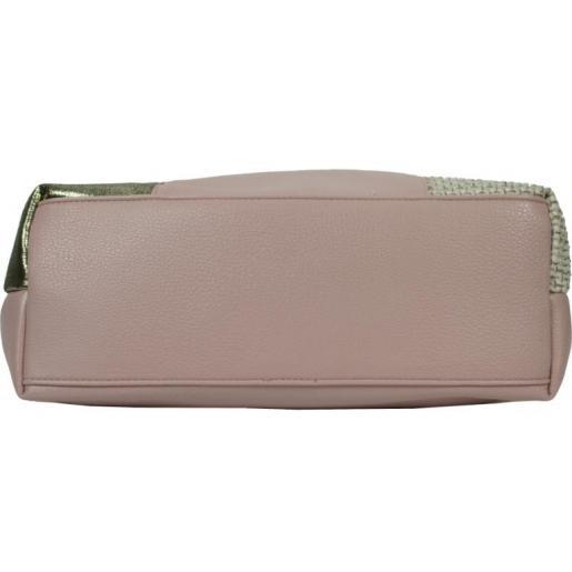 Женская сумка из кожзаменителя 61D4 Pink