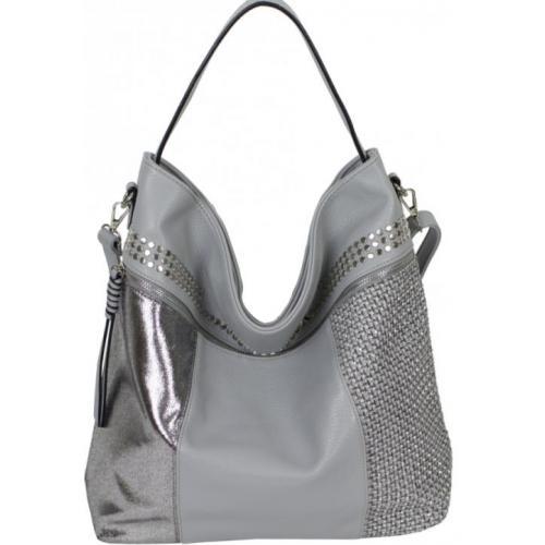 Женская сумка из кожзаменителя 61D4-44 Gray