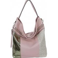 Красивая женская розовая сумка на плечо из кожзаменителя