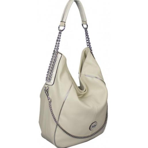 Женская сумка на плечо из кожзаменителя бежевая 86D993-37