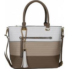 Женская белая сумка элегантного дизайна из кожзаменителя