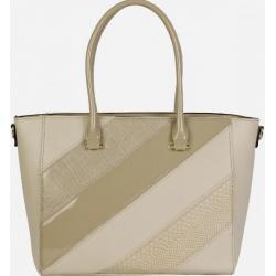 Женская сумка из кожзаменителя бежевая 01D28