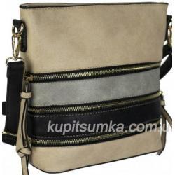 Женская сумка из кожзаменителя 90D35-1 Beige