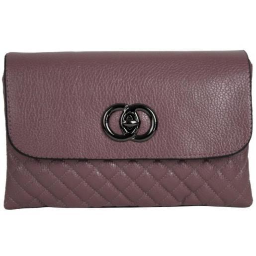 Женский клатч из кожзаменителя 28D81-45 pink