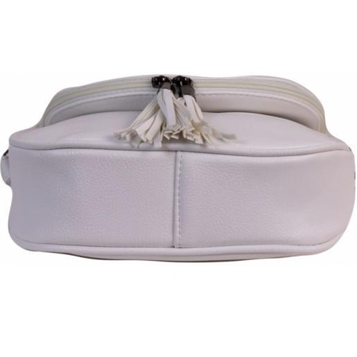 Женская сумка-мессенджер из кожзаменителя 70D50-3  White