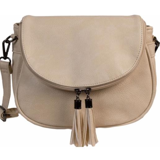 Женская сумка-мессенджер из  экокожи 70D50-4 Beige