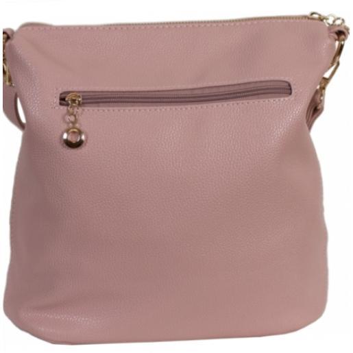 Женская розовая сумка на плечо из кожзаменителя 0D002-2