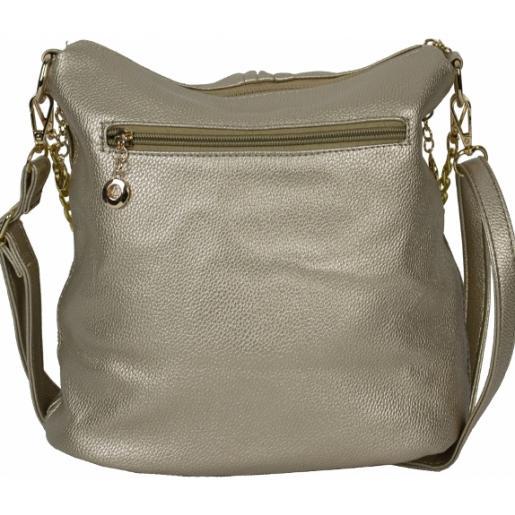 Женская сумка кросс-боди из кожзаменителя 0-02D-5 Золотистый