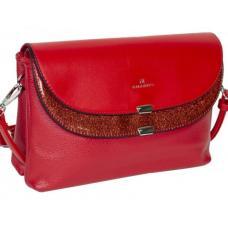 Модный женский клатч красного цвета из  экологической кожи