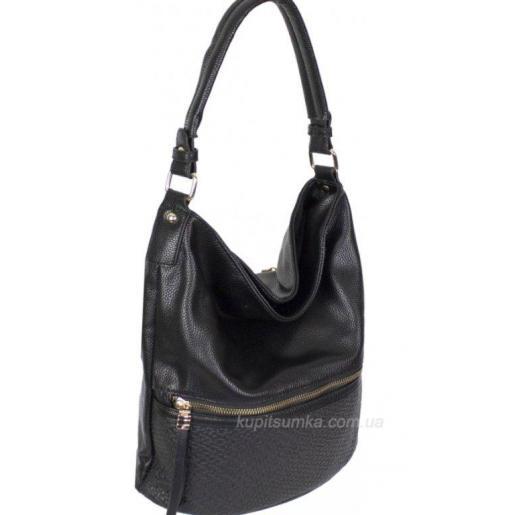 Женская сумка из эко кожи черная 93D421