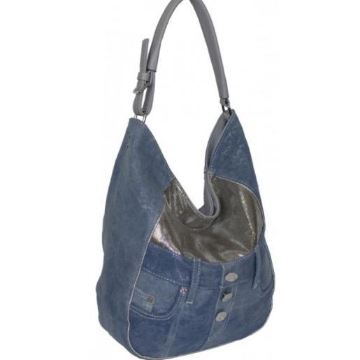 Джинсовая сумка Hobo Tote 87D220-3 Серый