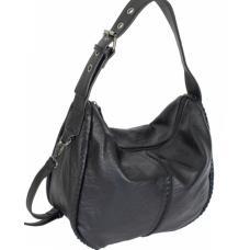 Женская сумка из кожзаменителя черная D83-1