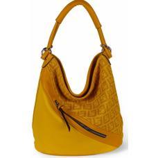 Женская сумка из эко кожи 703D-3 yellow