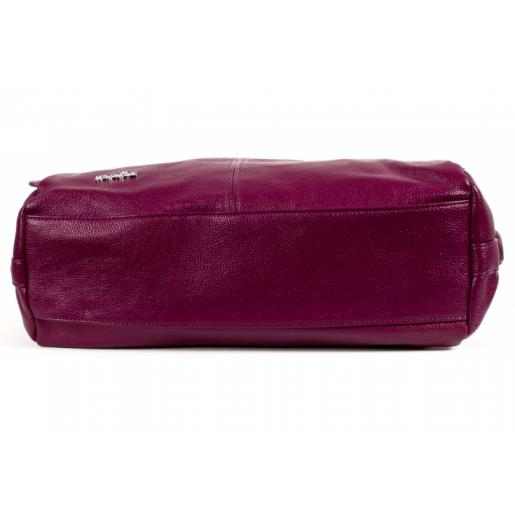 Женская сумка из эко кожи фиолетовая 52D39-1