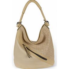 Женская сумка из эко кожи  бежевая 703D-2