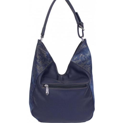 Женская джинсовая сумка Hobo Tote 87D220-1 Синий
