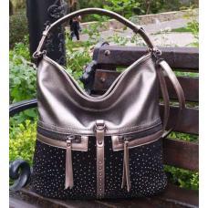 Женская сумка из кожзаменителя 96D30-1 Серый