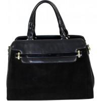 Женская сумка из замши и эко кожи 126D black